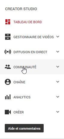 Communuaté YouTube