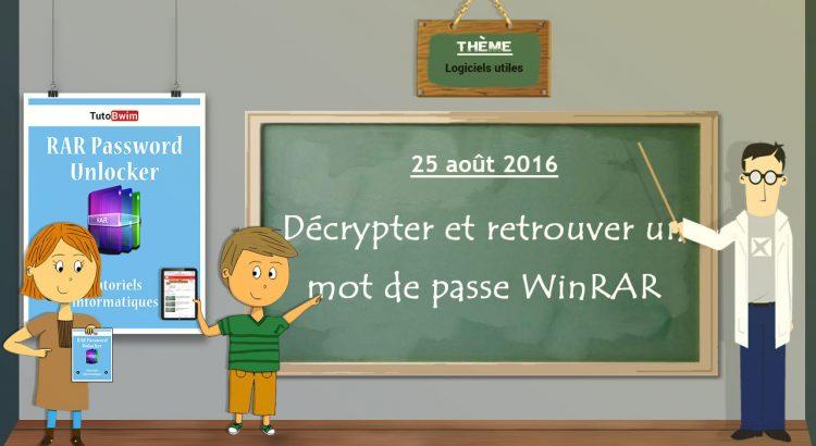 Décrypter et enlever un mot de passe d'un fichier WinRAR