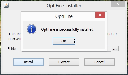 Installer Optifine